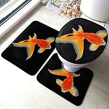 Sunmuchen Real Fish Badgarnitur Badematten Set 3