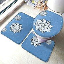 Sunmuchen Snowflake Pattern Badgarnitur Badematten