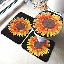 Sunmuchen Sunflower Badgarnitur Badematten Set 3