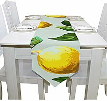 sunnee-shop Tischdecke Yellow Lemon Pattern