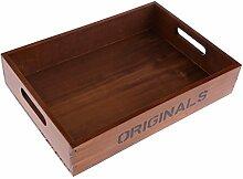 SunniMix Holzablage Holz Desktop Box Fall