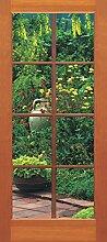 Sunny Decor Fototapete Terrassentür, 1 Stück, bunt, SD200
