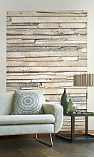 Sunny Decor - Vlies Fototapete WHITEWASHED WOOD -