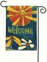 Sunny Garden Willkommen Flag