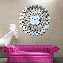 SUNNY KEY-Uhren@Moderne Blume PS Spiegel Wanduhr