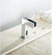 SUNNY KEY-Waschbecken Wasserhahn @ LED Sensor berührungslose WC Badezimmer Armaturen waschen Waschbecken Wasserhahn verchromt, heiß und kal