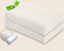 Sunny KOPFKISSEN Körnchen-Massage-Latex-Gedächtnis-Kissen, Weiche und Bequeme Sitz-Hals-Kurve hygroskopisch entfernen Hitze 60 * 40 * 10/12cm (Größe : B)
