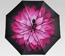 Sunny Umbrella Fold Weiblich Vollautomatischer Sonnenschirm Sonnenschutz Anti-UV Regenschirme ( Farbe : #3 )