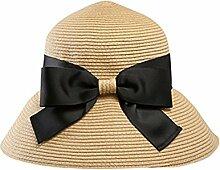 SUNNY Womens Brim Caps Strand Urlaub Sonnenschutz Faltbarer Strohhut ( Farbe : Khaki )