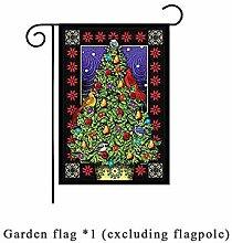 SUNNYBLUEE Weihnachtsdekoration Garten Flagge