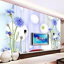 SUNNYBZ 3D Wandbild Moderne Tapete Lila Pflanze