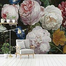SUNNYBZ 3D Wandbild Moderne Tapete Rosa Pflanze