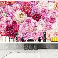 SUNNYBZ 3D Wandbild Moderne Tapete Rot Rosa