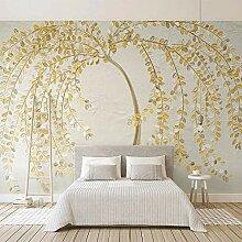 SUNNYBZ Drucken Sie Wandkunst, Golden Pflanze Baum