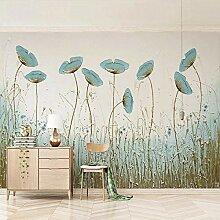 SUNNYBZ Wandbild - Blau Pflanze Blume Kunst