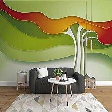 SUNNYBZ Wandbild - Grün Abstrakt Pflanze Baum