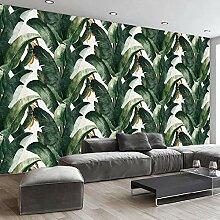 SUNNYBZ Wandbild - Grün Pflanze Bananenblatt
