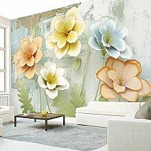 SUNNYBZ Wandbild - Grün Relief Pflanze Blume