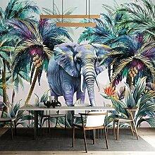 SUNNYBZ Wandbild - Pflanze Kokosnussbaum Elefant