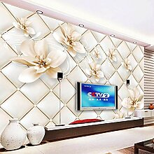SUNNYBZ Wandgemälde Wohnzimmer Weiß Pflanze