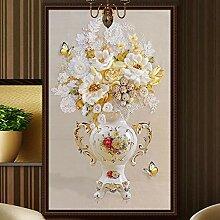 SUNNYBZ Xxl Wandtattoo Diamant Blume Kunst Vase
