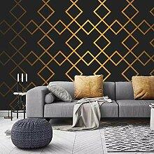 SUNNYBZ Xxl Wandtattoo Golden Abstrakt Geometrisch