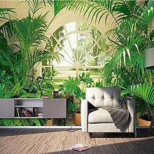 SUNNYBZ Xxl Wandtattoo Grün Pflanzen Fenster