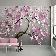 SUNNYBZ Xxl Wandtattoo Pink Pflanzen Blumen Bäume