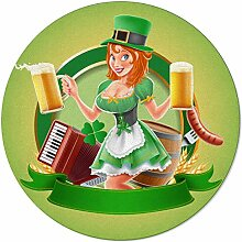 SunnyM St Patrick runder Teppich für Mädchen mit
