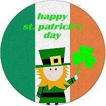 SunnyM St Patrick runder Teppich mit Elfenmotiv,