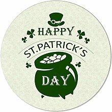 SunnyM St Patrick runder Teppich mit grünem