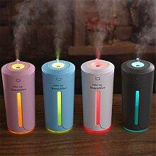 sunnymi 7 Farbe Tasse USB Lampe Ultraschall Zerstäubung Luftbefeuchter + Aroma + Nachtlicht/Baby Mini Home Auto/ätherisches Öl Diffusor/Luftdiffusor Luftreiniger Zerstäuber (Weihnachten, Weiss)