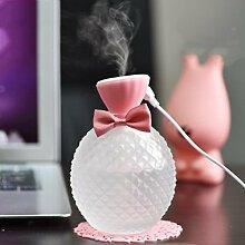 sunnymi Bowknot Kristall Flasche USB Aroma Zerstäubung Luftbefeuchter Luftreiniger (300ml, Rosa)