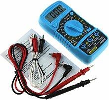 sunnymi Digital Thermometer Multimeter 3 1/2 digitaler LCD Bildschirm/Gleichstrom Wechselstrom Widerstand Diode Temperatur Tester/Hintergrund Licht Funktion (Blau)