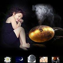 sunnymi Emulational Moon Luftbefeuchter/Kreativer Multifunktions-LED Luftbefeuchter Luftreiniger/Entfernen Sie Ungünstige Gerüche Und Gerüche/Gute Qualität (Gelb)