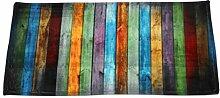 sunnymi Farbdruck Holz Fußmatten 40 * 60CM/40 *