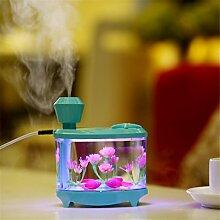 sunnymi Fisch Panzer Lampe Zerstäubung Luftbefeuchter + Nachtlicht/Baby Mini Home Auto/Weihnachten Geschenk Luftdiffusor Luftreiniger Zerstäuber/Für Babies (460ml, Blau)