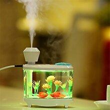 sunnymi Fisch Panzer Lampe Zerstäubung Luftbefeuchter + Nachtlicht/Baby Mini Home Auto/Weihnachten Geschenk Luftdiffusor Luftreiniger Zerstäuber/Für Babies (460ml, Weiss)