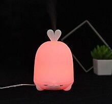 sunnymi LED Baby Hase Lampe Ultraschall Zerstäubung Luftbefeuchter Aromatherapie Luftdiffusor (10,5x10,5x15,6, Rosa)