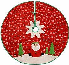 sunnymi NEUE Weihnachtsbaum-Rock Schneeflocke Weihnachtsbaum Baumrock Feiertags-Art-roter weißer Filz-Weihnachtsmann (Schneeflocke, Rot)