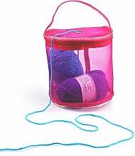 sunnymi Schicke Mesh-Tasche Tragbare Tasche/Leichtes Garn Häkeln Neu/Strick-Assistent-Werkzeuge Gewinde-Aufbewahrungsbeutel Handtasche (Lila)