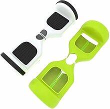sunnymi Smart Balancing Scooter Schutzhülle Hoverboard Balance Auto Reißverschluss tragbare ,Silikon Tasche für 6,5 Zoll 2 Räder (KAUTSCHUK, Grün)