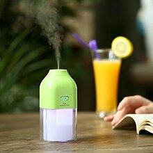 sunnymi USB Ladeversion Mini Luftbefeuchter Rosen Design✔LED Lampe Zerstäubung Luftbefeuchter ✔ 7 Buntes Nachtlicht✔Energieflasche im Freien Tragbar ✔ Baby Home Auto (130ML, Grün)