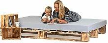 sunnypillow Palettenbett aus Holz Holzbett 180 x