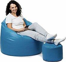 sunnypillow Premium XL Sitzsack mit Hocker Outdoor