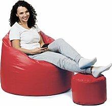 sunnypillow Premium XXL Sitzsack mit Hocker