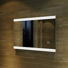 sunnyshowers Badspiegel Lichtspiegel LED Spiegel Wandspiegel 50 x 70cm kaltweiß IP44 energiesparend