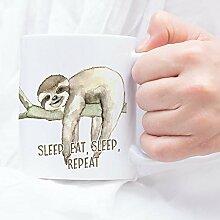 Sunnywall Auswahl Tasse Faultier Sloth Mug Spruch