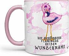 Sunnywall Flamingo-Tasse Kaffeebecher Wunsch-Tasse