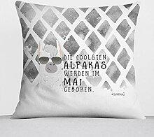 Sunnywall Monats-Kissen Alpaka Kuschel-Kissen
